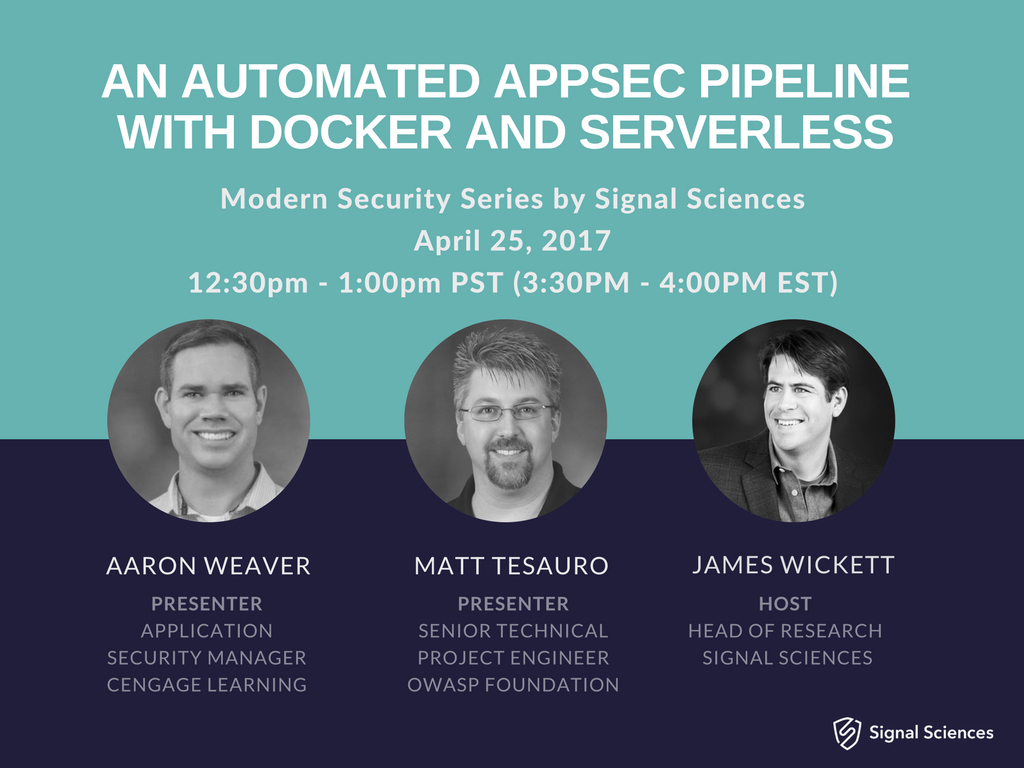 An Automated AppSec Pipeline with Docker and Serverless