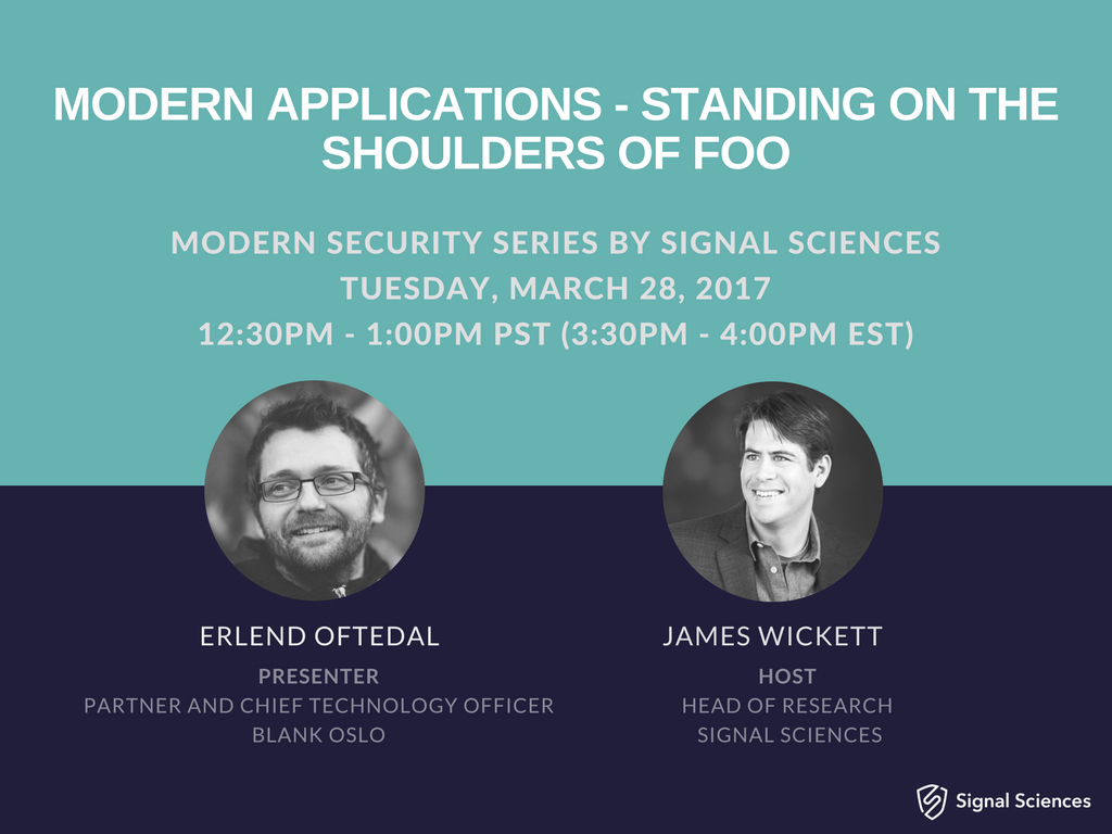 Modern Applications - Standing On The Shoulders Of Foo