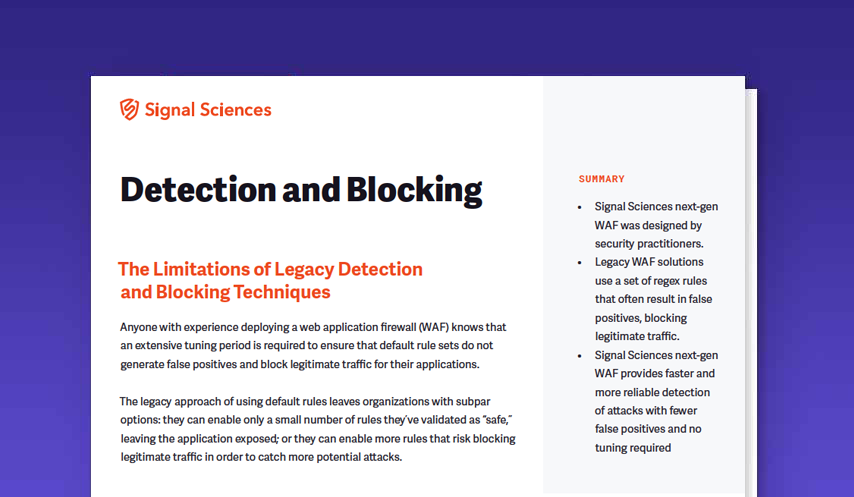 Detection and Blocking