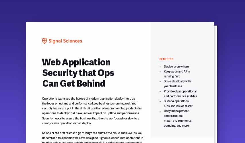 Web Application Security that Ops Can Get Behind