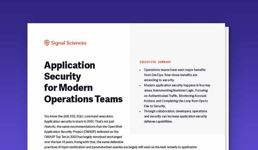Application Security for Modern Operations Teams