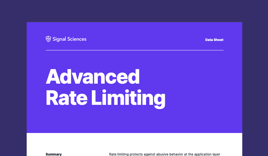 Advanced Rate Limiting