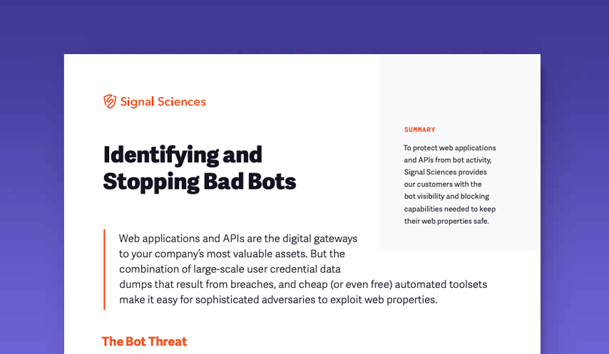 Identifying and Stopping Bad Bots