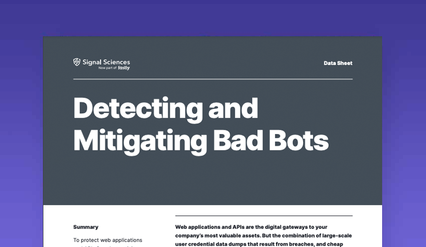 Detecting and Mitigating Bad Bots