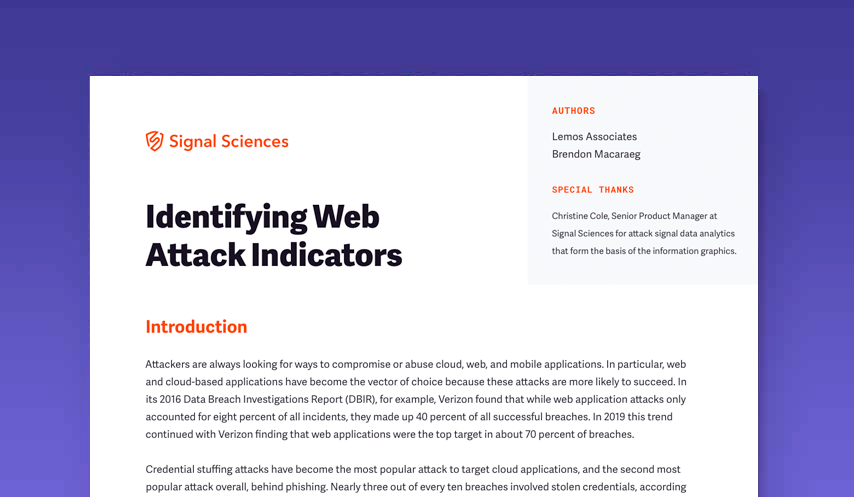 Identifying Web Attach Indicators