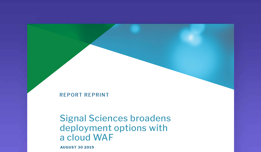 Signal Sciences broadens deployment options with a cloud WAF