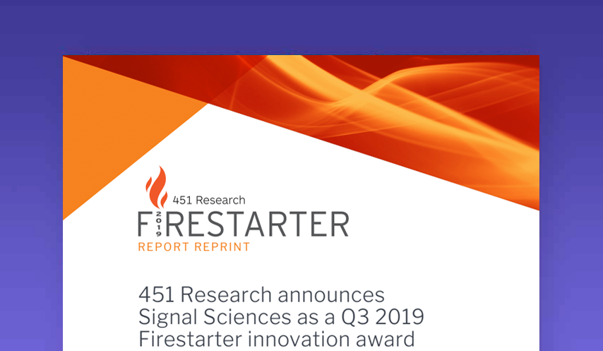 451 Research Firestarter award 2019