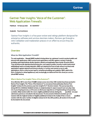 Gartner Voice of the Customer Report Signal Sciences