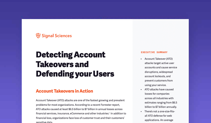 Detecting Account Takeovers and Defending your Users