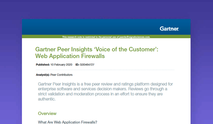 Gartner Voice of the Customer