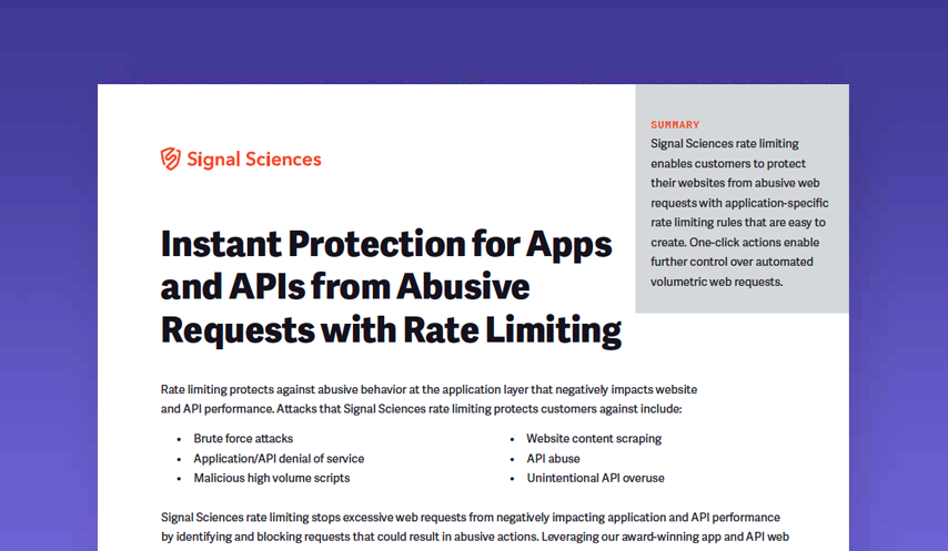 Instant Protection for Apps and Apis from Abusive Requests with Rate Limiting