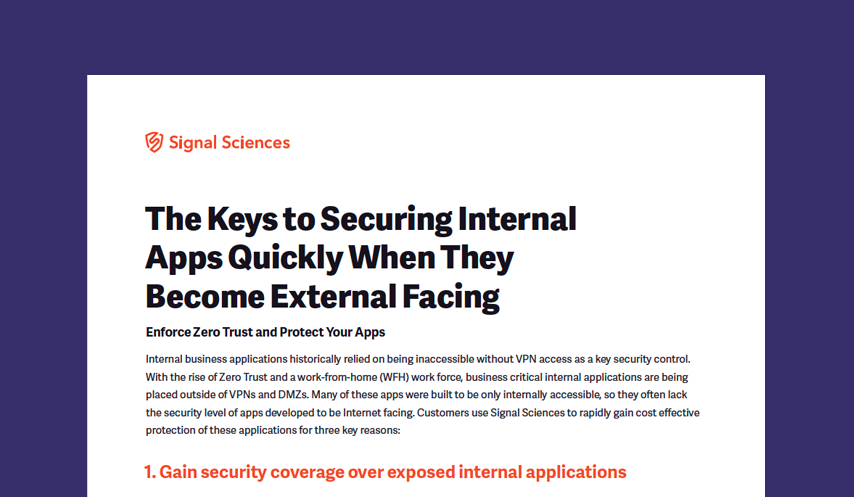 Three Keys to Securing Internal Apps Quickly When They Become External Facing