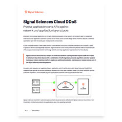 Signal Sciences Cloud DdoS