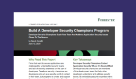 Build A Developer Security Champions Program