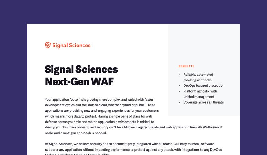 Signal Sciences Next-Gen WAF