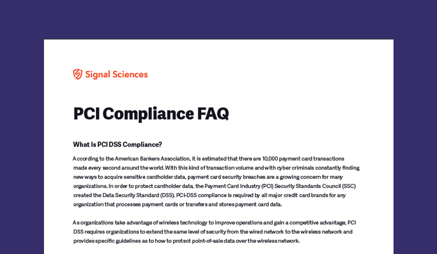 PCI Compliance FAQ