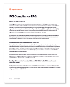 Signal Sciences PCI Compliance FAQ