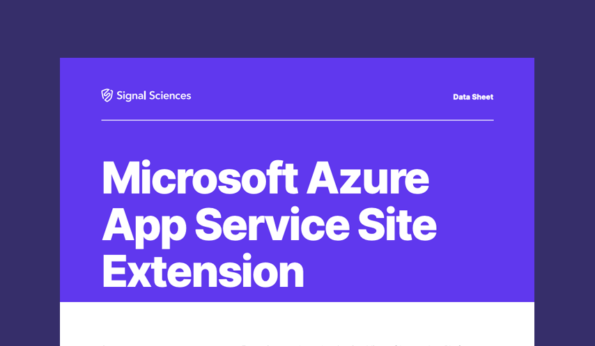 Microsoft Azure App Service Site Extension