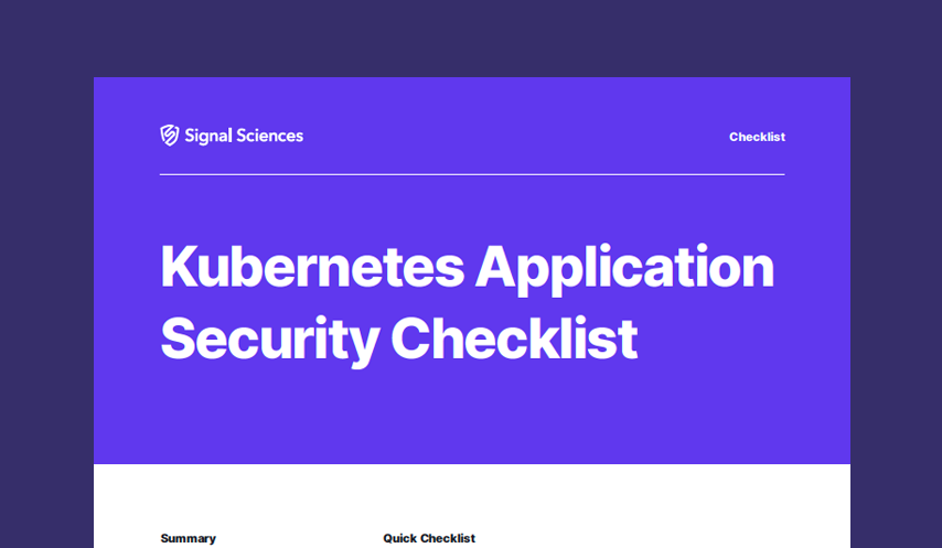 Kubernetes Application Security Checklist