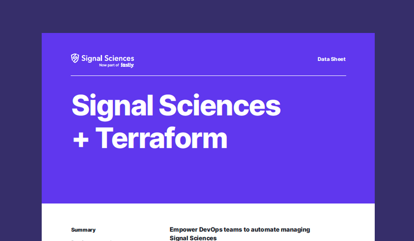 Signal Sciences + Terraform