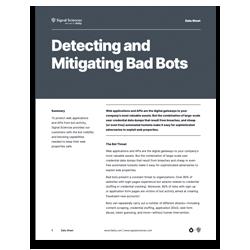 Detecting and Mitigating Bad Bots
