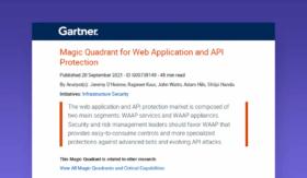 Gartner Magic Quadrant For Web Application & API Protection 2021